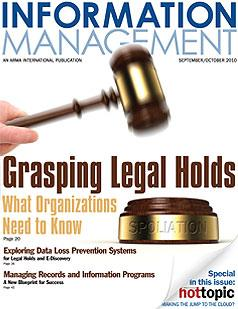 To read more about the article in the Info Mgt Jrnl Sept 2010 or to subscribe, click here.